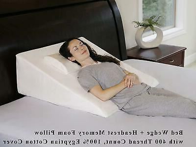 Intevision Extra Large Bed Wedge Pillow Thread Egyptian Cott