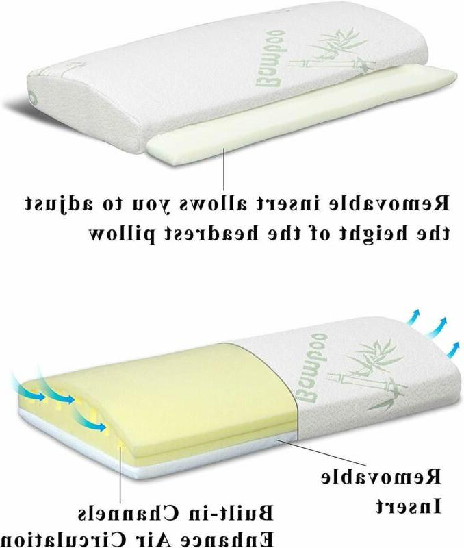 Foam Wedge Pillow High Quality Removable Cover Snoring Post