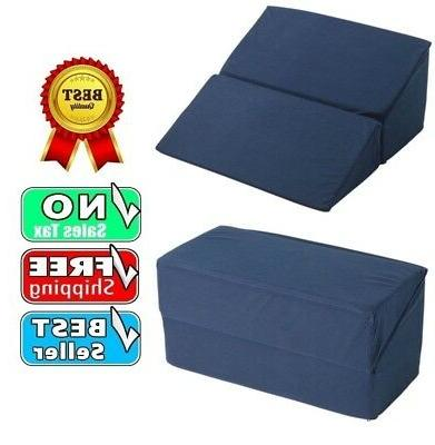 folding memory foam pillow bed wedge relieve