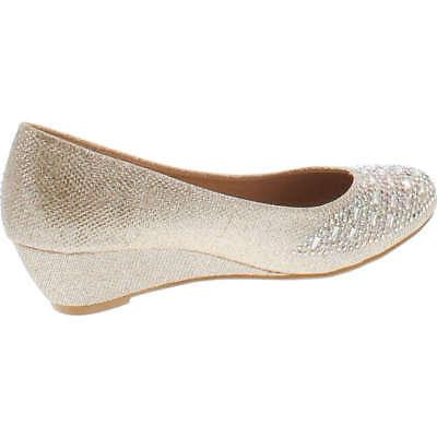 Forever Womens Low Heel Closed Wedding