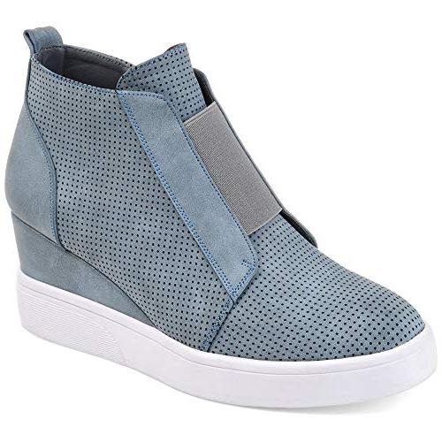 heel platform casual sneakers zipper