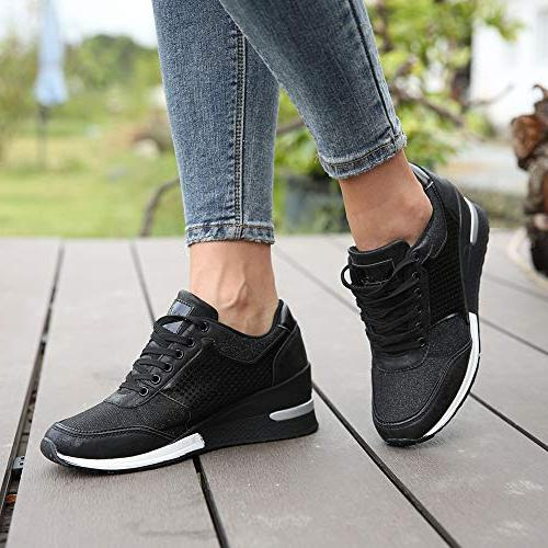 High Heeld for Women Hidden Shoes, Chioce for Casual and Daily SM1-BLACK-7.5