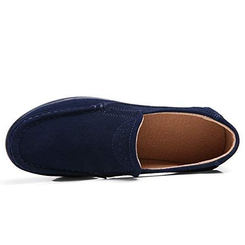 Wide Loafers Comfortable Wedge Sneakers Navy 8 US