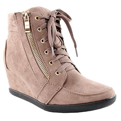 lace wedge sneakers 56