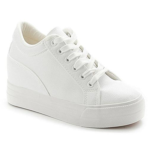 leather sneakers casual lace white