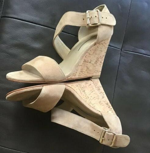Stuart Cork Wedge 6 Suede