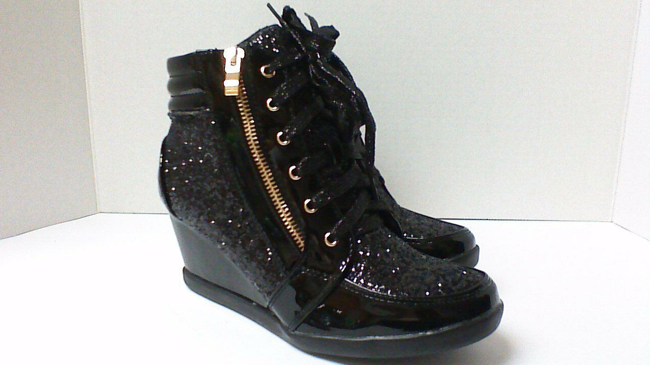 Forever Link Glitter High Top Wedge 8.5