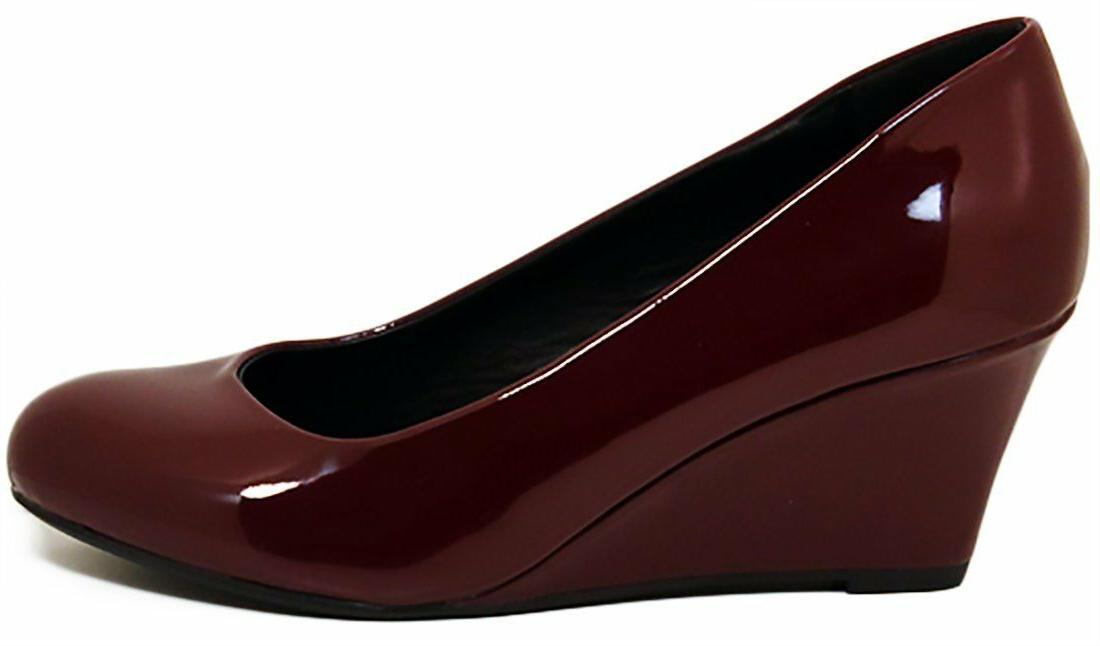 Forever Patent Round Pumps - WINE -