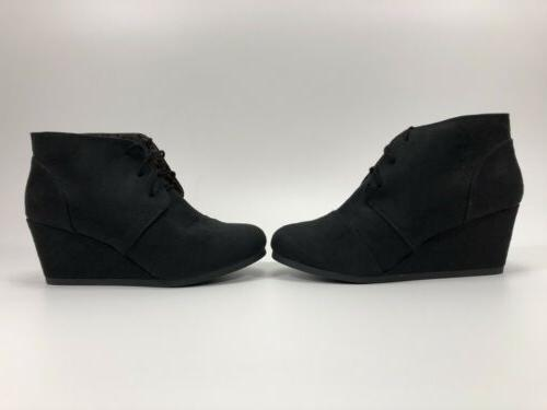 Marco Galaxy Wedge Boots Black 9 US