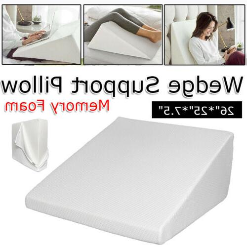 memory foam wedge pillow back support