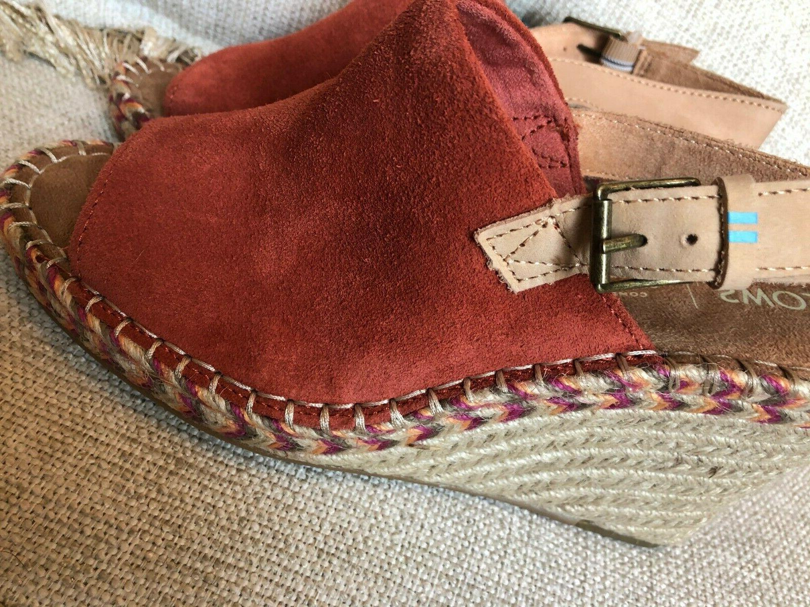 TOMS Monica Spice Wedge tag, size 8.5