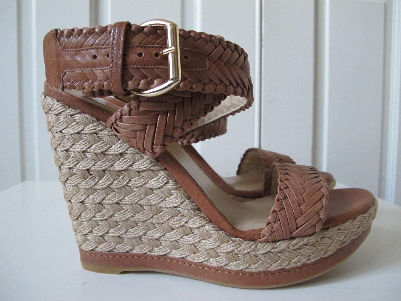 NEW $429 Elixir Espadrille Shoes Brown 10 Alex
