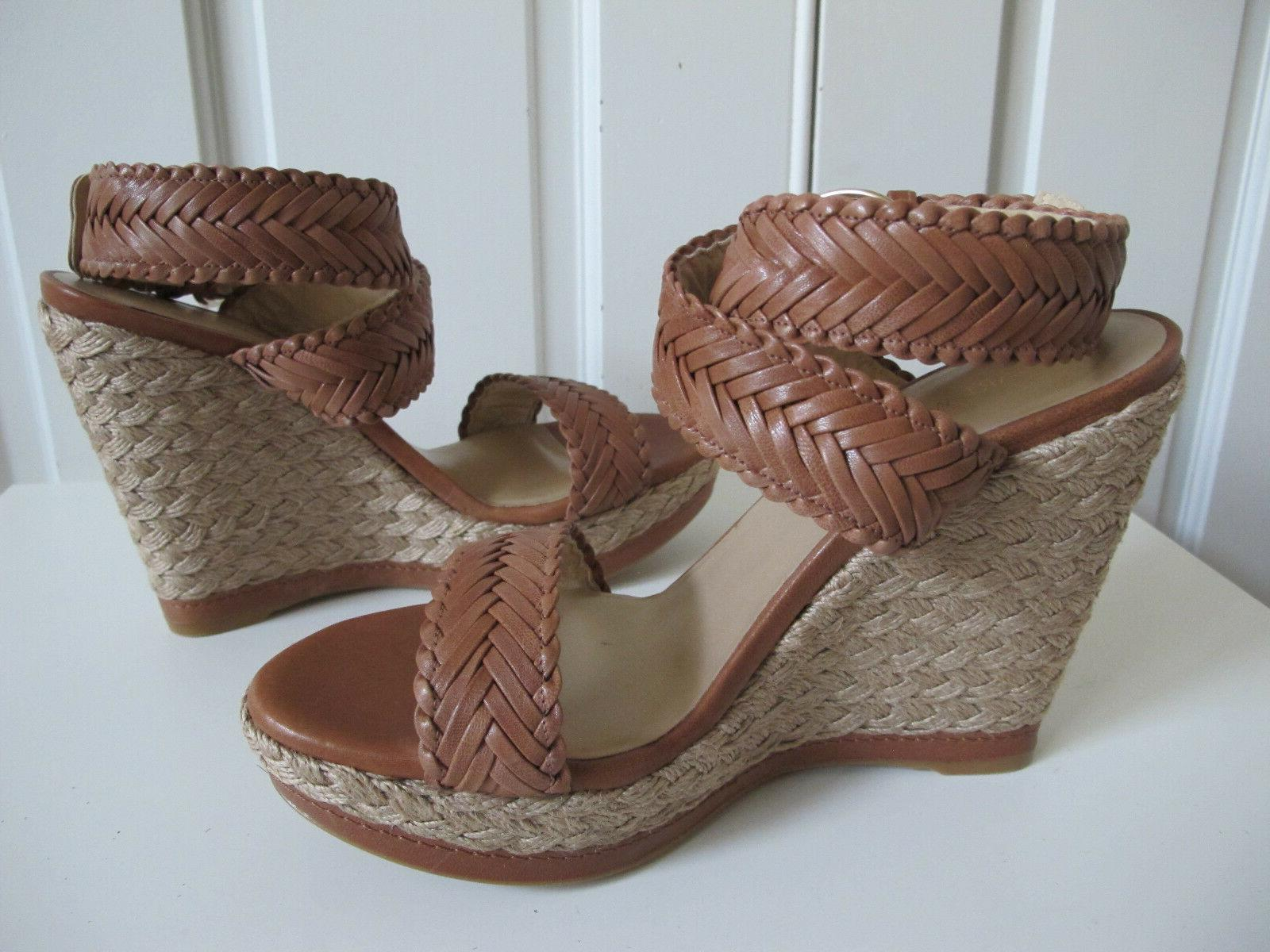 NEW $429 Stuart Elixir Espadrille Wedge Shoes Alex
