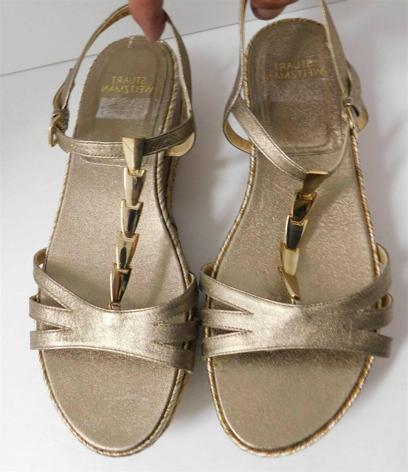 New Strappy Wedge Sandals M