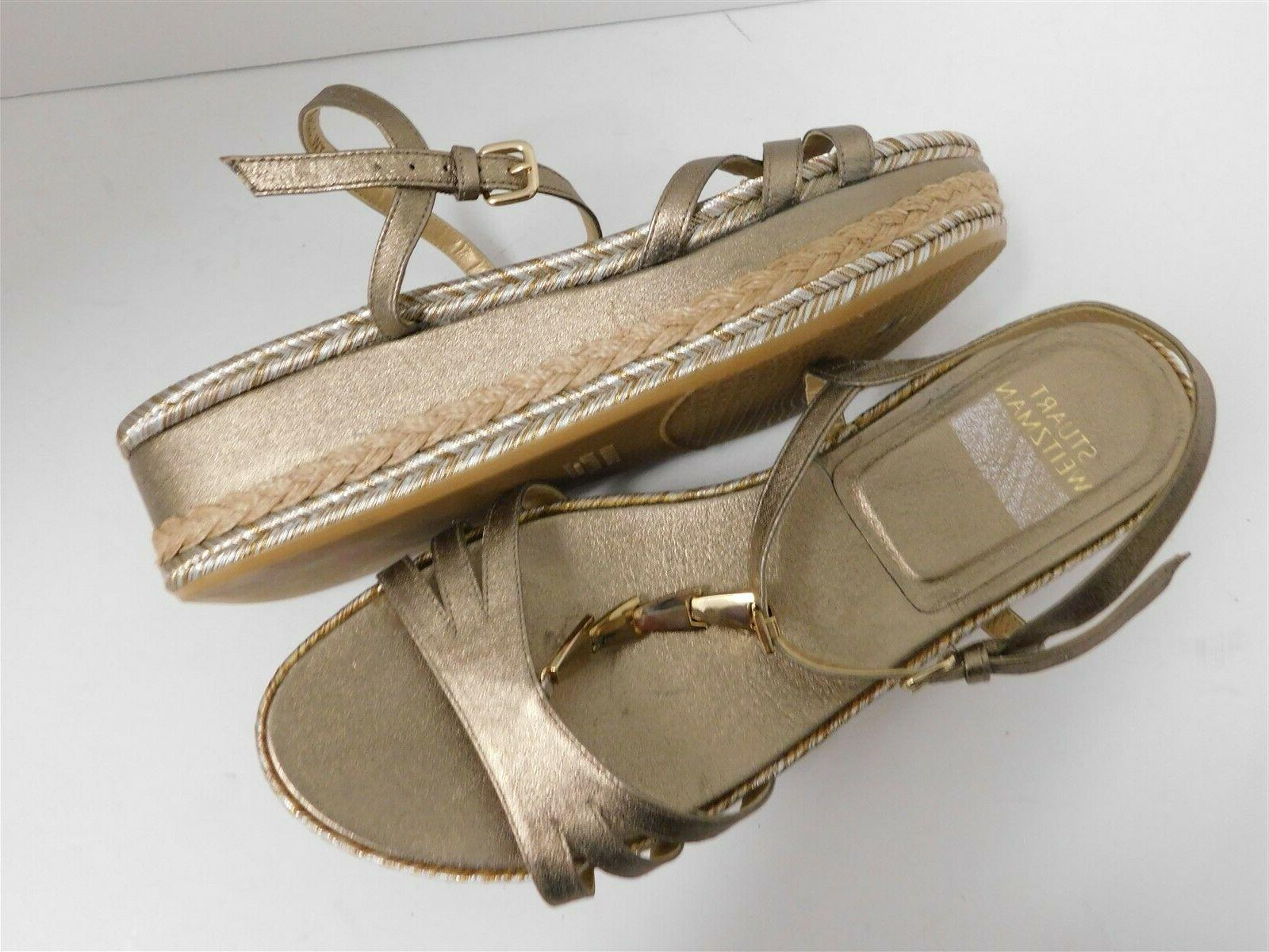 New Stuart Strappy Leather Wedge Sandals