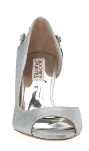 Badgley Mischka NEW Meagan II Silver Wedge 7.5M $279
