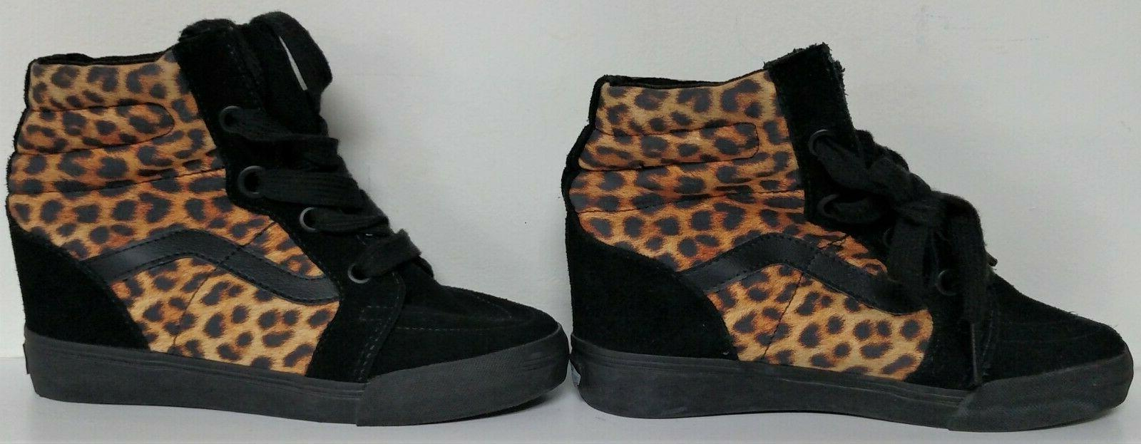 NEW Animal Print Hidden High-Top Shoes-Size