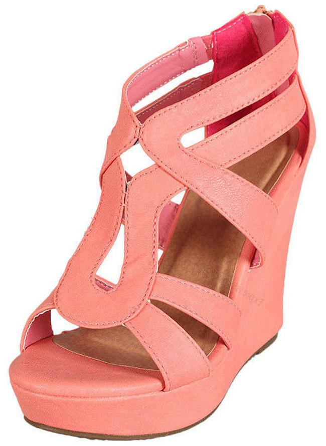 NEW HEEL WEDGE STRAPPY TOE SHOE