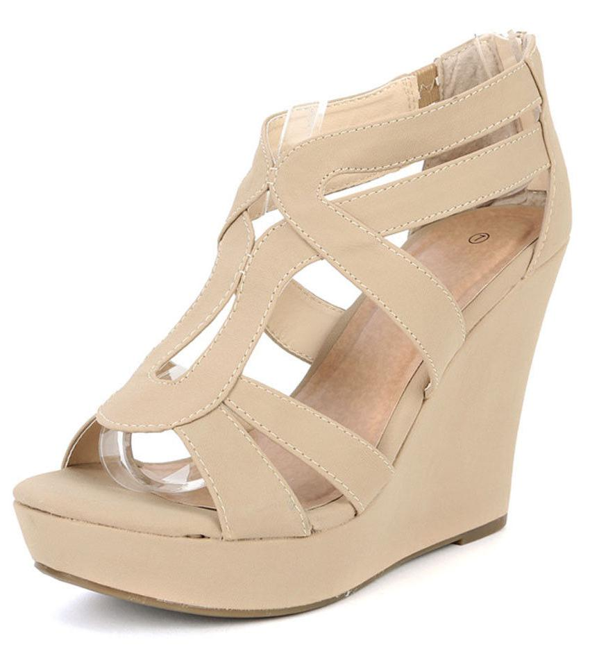 NEW WOMEN WEDGE TOE PLATFORM SHOE