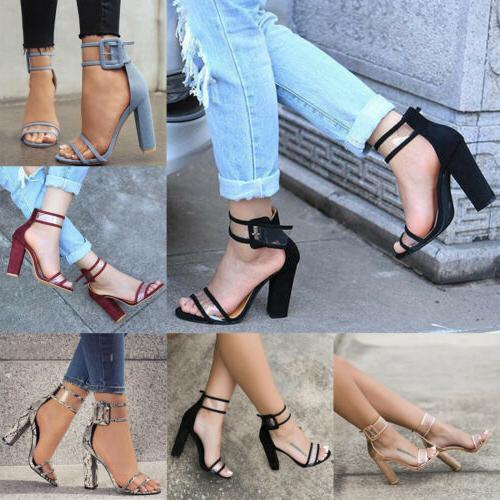Women High Block Ankle Party Size