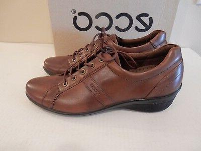 NEW ECCO Women's Lace-Up Walnut Leather EU41