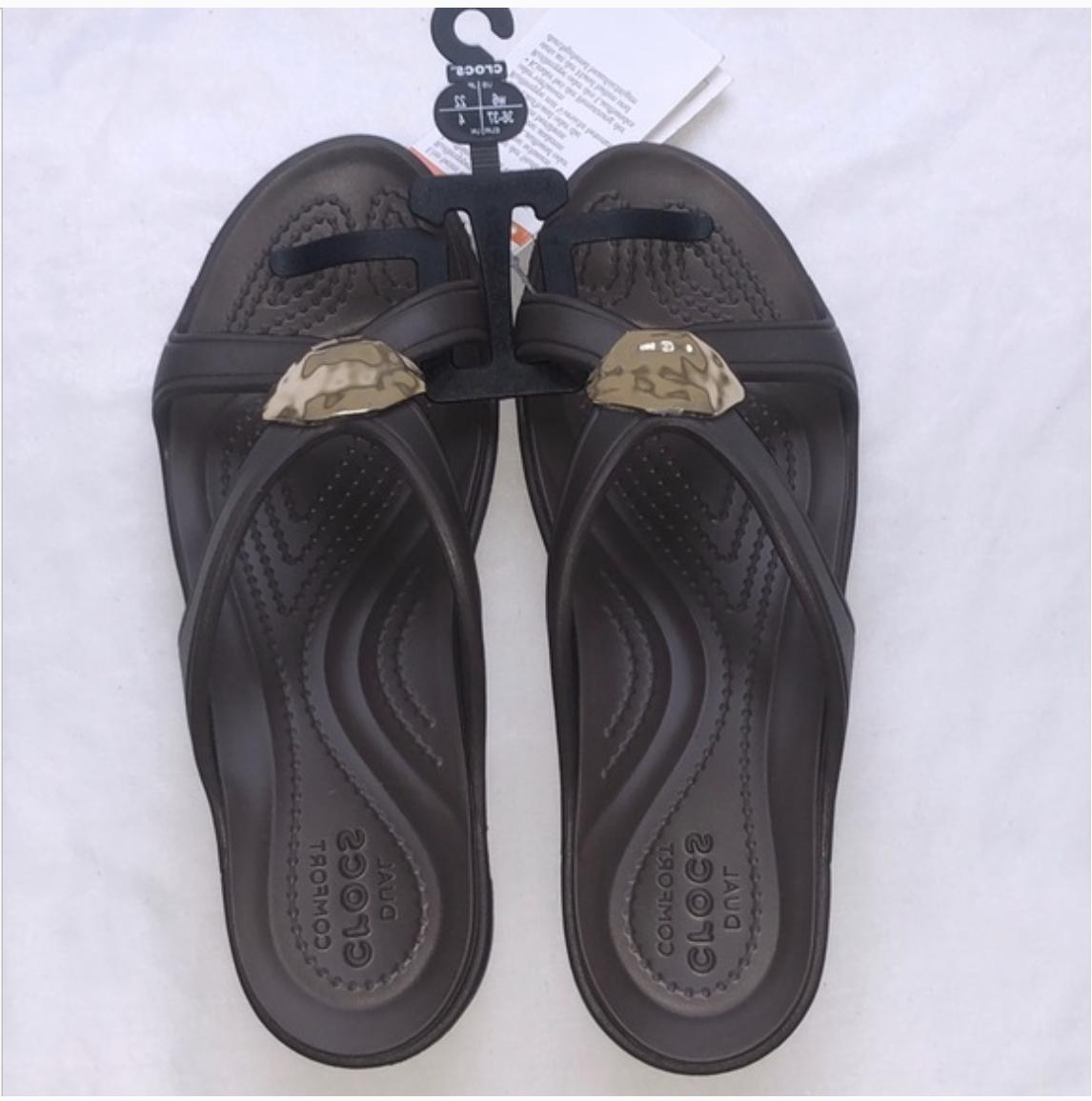 New Wedge Sandals Brown Size 8