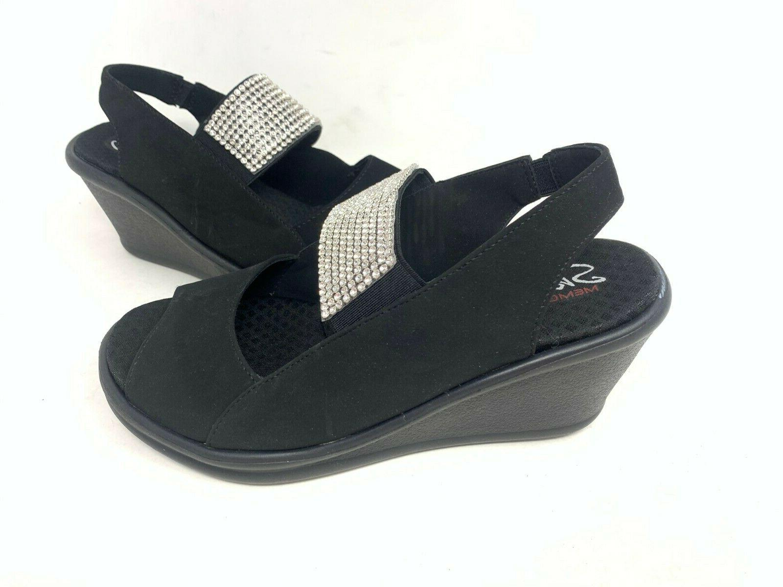 new women s rumblers sparkle on wedge