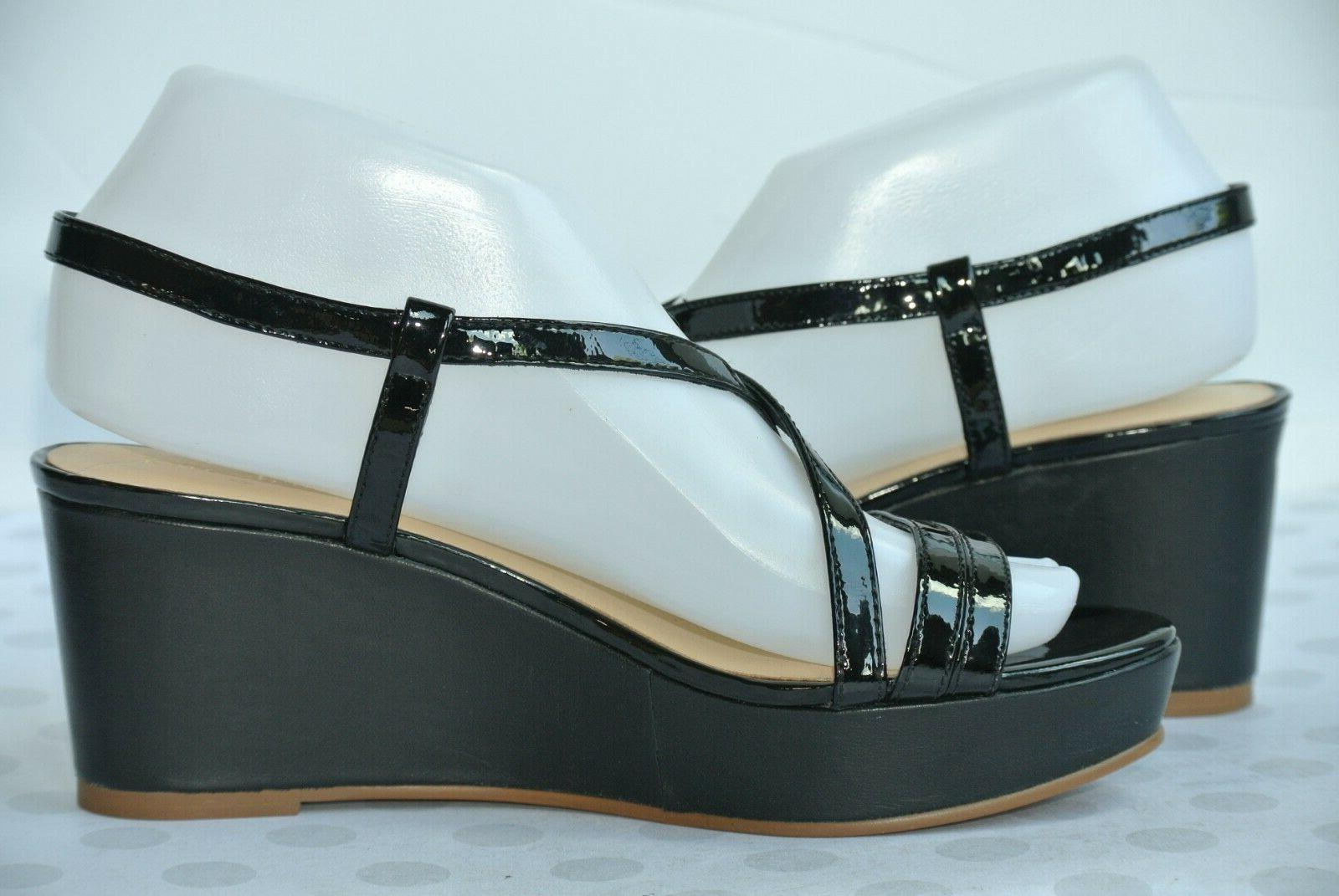NEW Spade York Black Leather Sandals