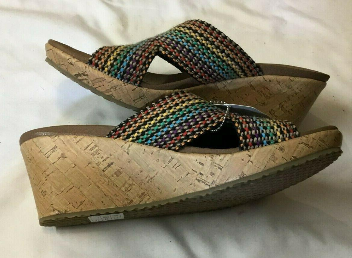 NEW DELIGHTED Slip On Wedge Sandals 7