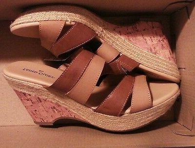 new womens two tone brown open toe