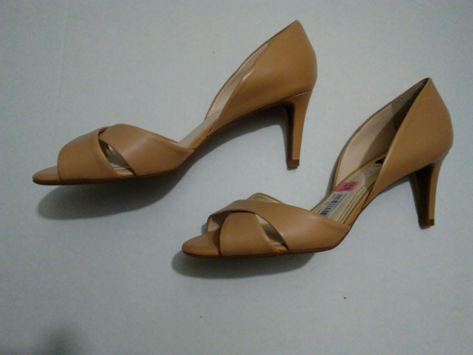 nude dress wedge strappy womens sandals 8