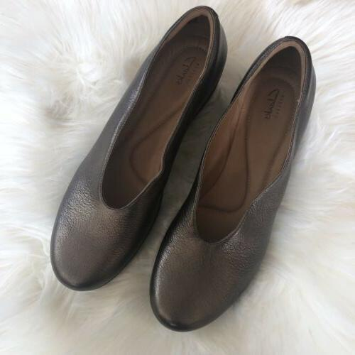 NWOB Clarks Flare Bronze Wedge Shoes 11