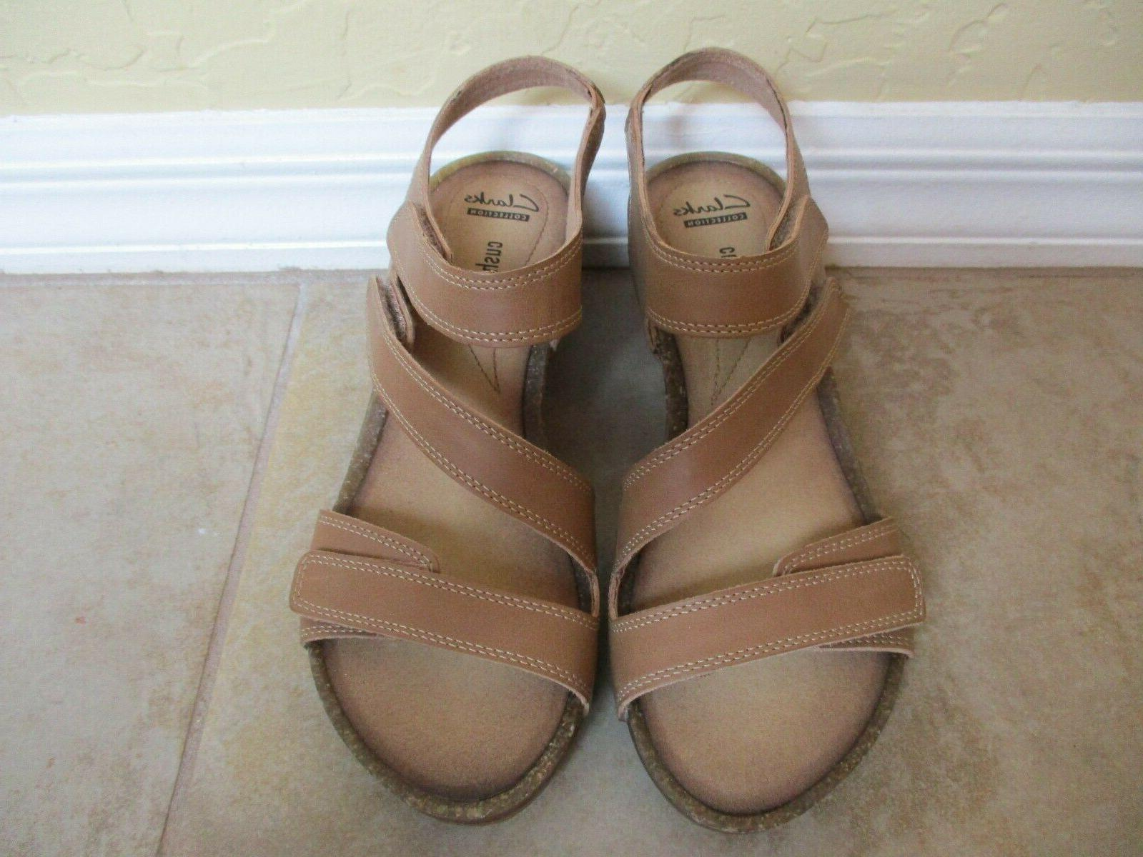 nwt brown leather wedge heels for women