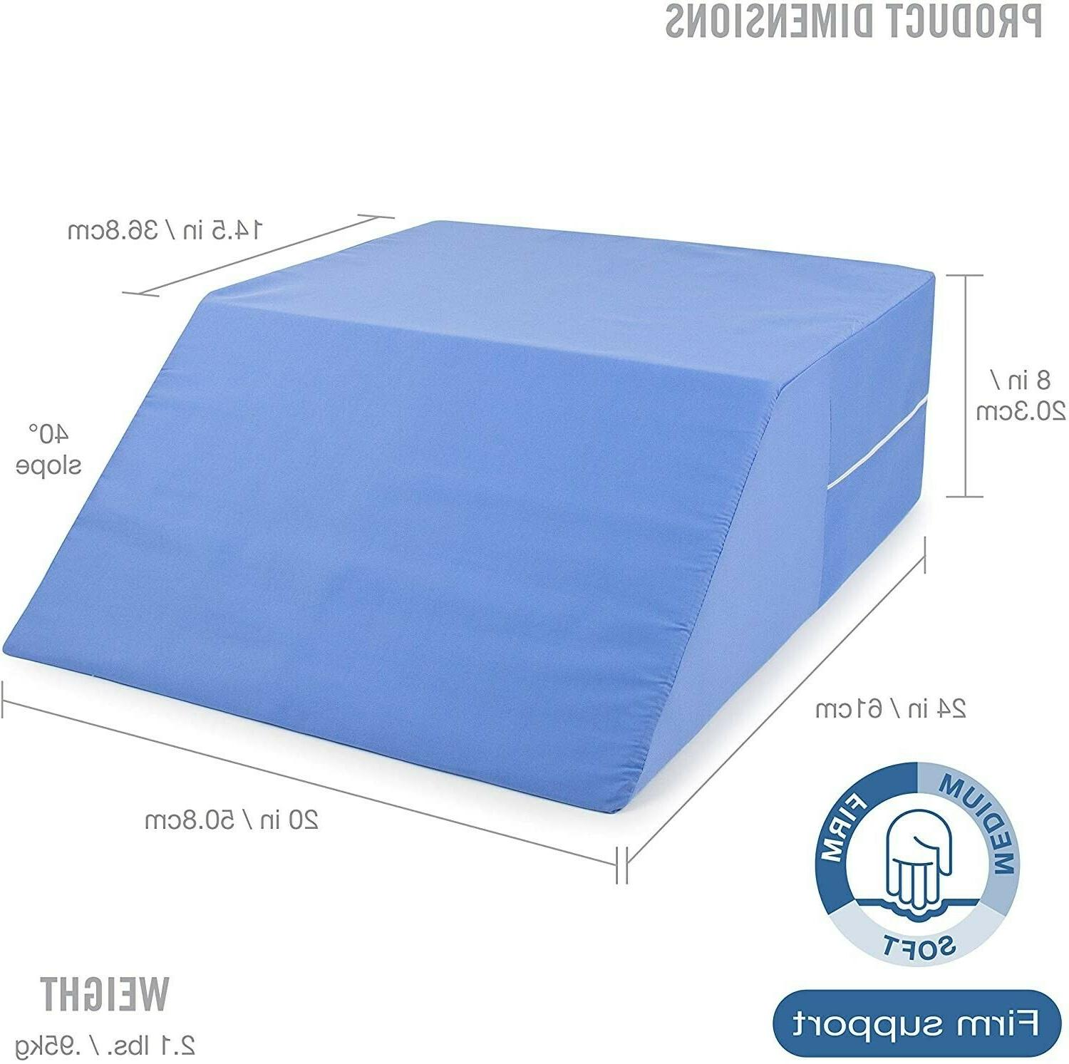 DMI Ortho Bed Wedge Elevated Leg Pillow, Supportive Foam Pil