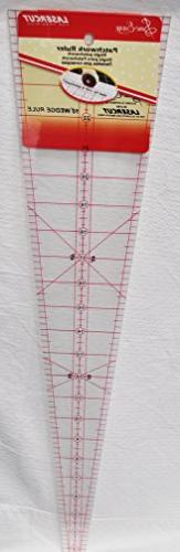 Sew Easy 22 1/2 x 4 7/8 10 Degree Patchwork Wedge Ruler NL41
