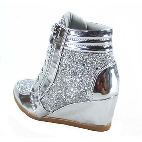 Forever Link Fashion Lace Wedge Shoes US,