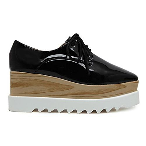 TENGYUFLY Oxfords Casual Up Mid Square