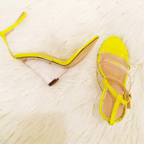 rampage yellow black double band ankle strap
