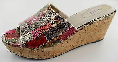 roelle womens multi color leather open toe