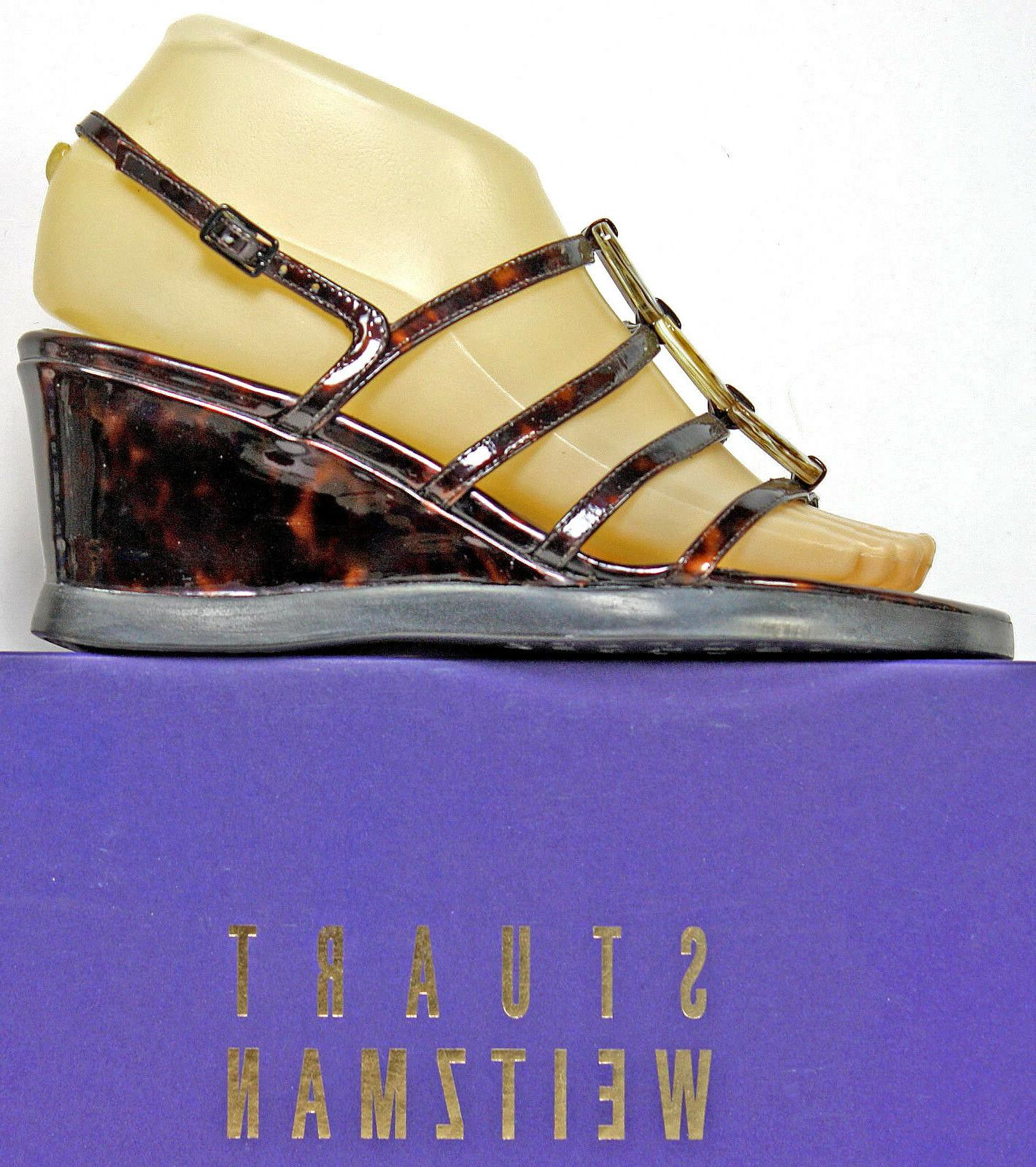 sandals size 5 5 w tortoise shell
