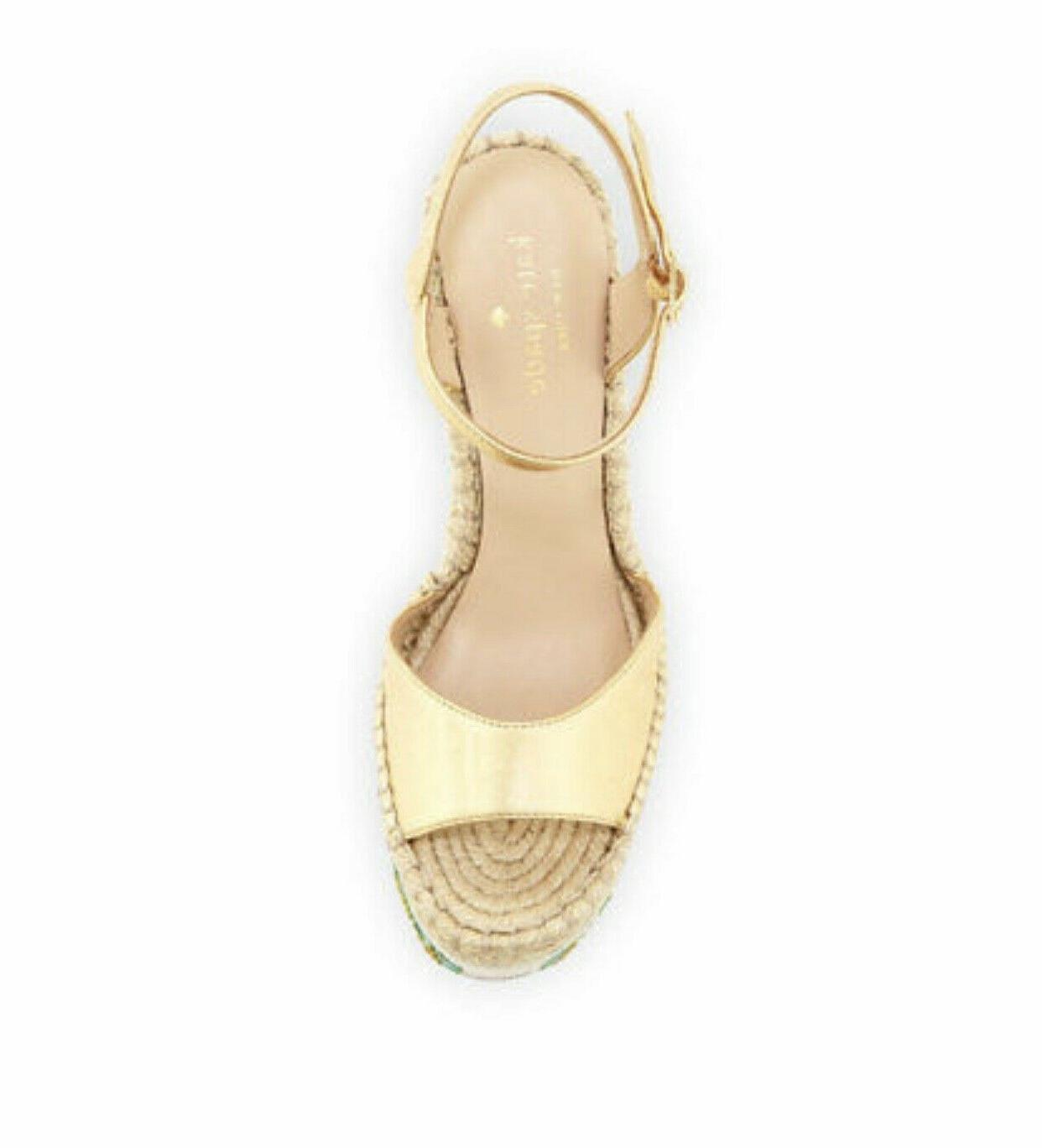 size 11 CACTUS WEDGE ankle gold