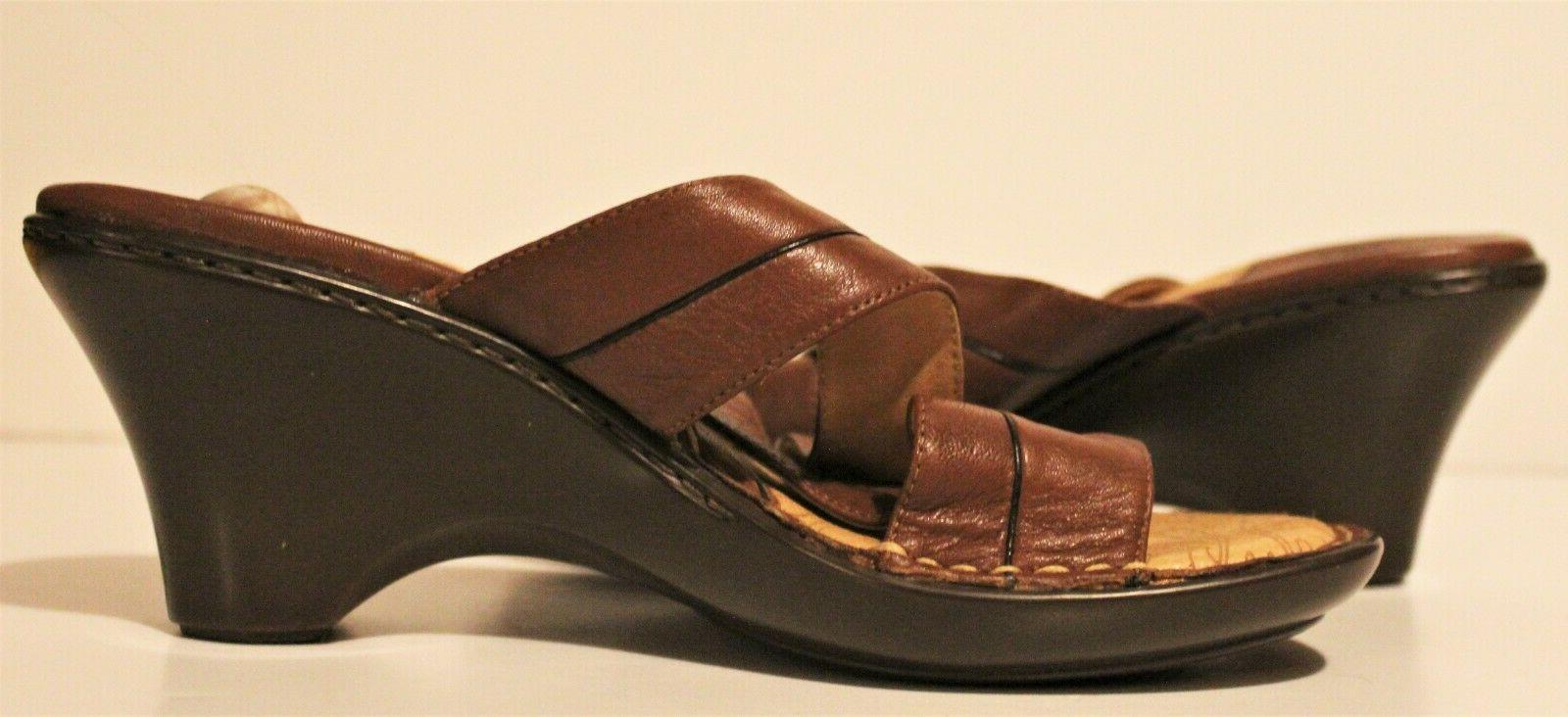Sofft Brown Leather Slip-On Size