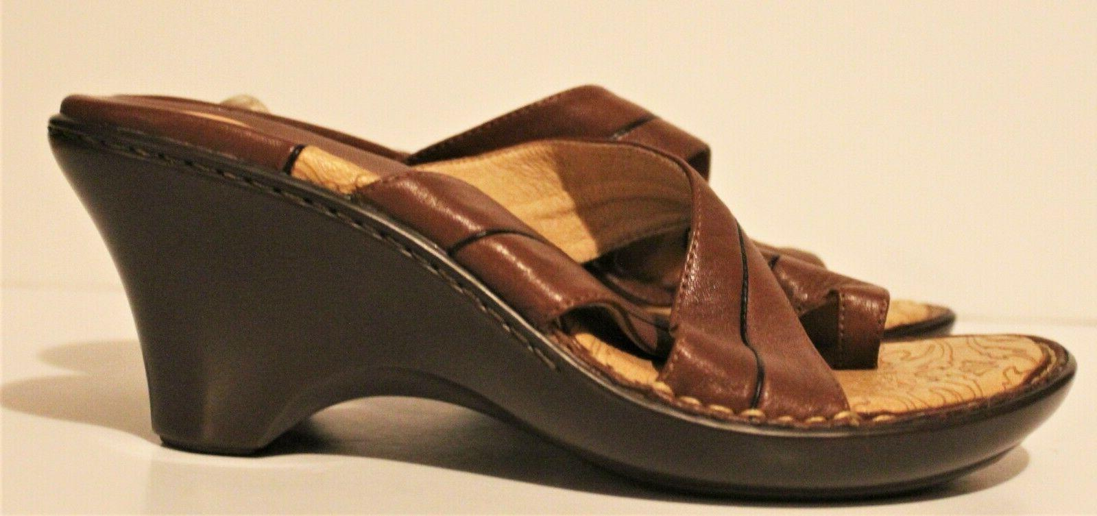 Sofft Brown Leather Shoes Slip-On Size