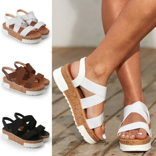 summer women ankle strap flatform sandals platform