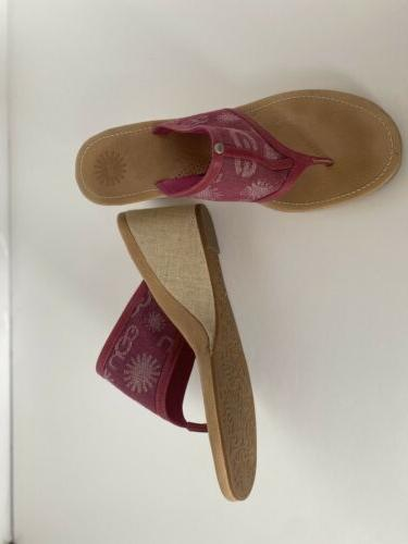 ugg size 10 pink wedge sandals new