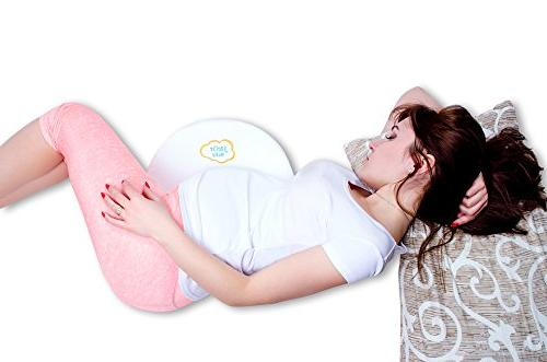 J&Or Wedge Pregnancy Pillow | Reduce Reflux Memory with 12-Degree Incline for Cotton Cover