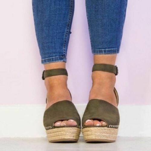 US Heels Ankle Espadrilles Shoes