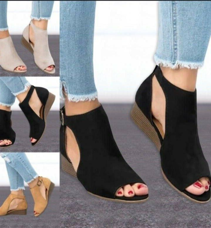 us women s suede wedge heel summer