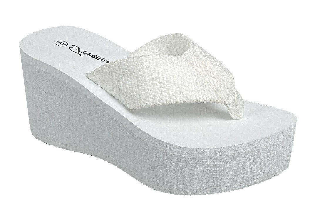 "WEDGE EVA 3"" WEBBING PLATFORM SANDALS"