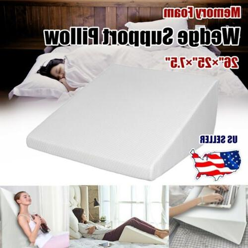 wedge pillow memory foam body elevate support